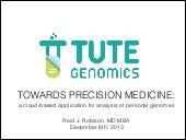 Towards Precision Medicine: Tute Ge...