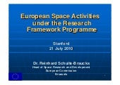 EU Space Research Program @ Stanfor...