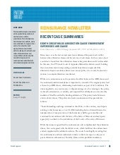Reinsurance Newsletter ~ June 2013
