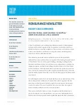 Reinsurance Newsletter - March 2014