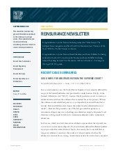 Reinsurance Newsletter ~ September ...