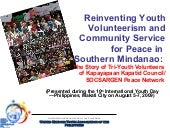 Reinventing youth volunteerism and ...