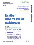Relation --Need for Radical Redefinition PDF