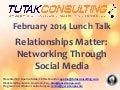 Relationships Matter: Networking Through Social Media