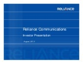 Reliance Communications Ltd. video