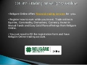 Religare online ppt-submission