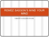 Remez sasson's mind your mind