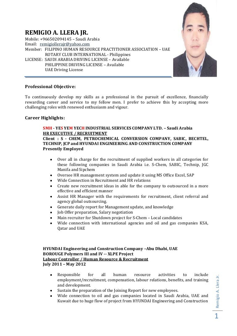 hr executive resume format doc cipanewsletter curriculum vitae uae sample