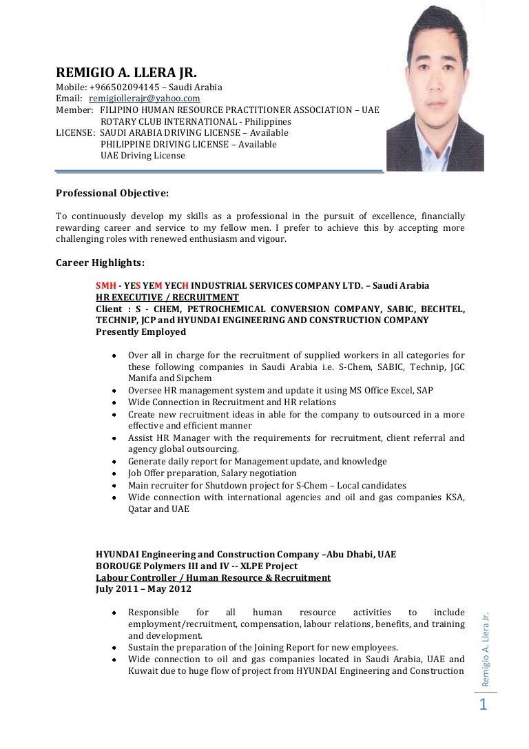 hr executive resume format doc cipanewsletter curriculum vitae uae sample