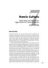 Remix Culture: Digital Music and Vi...