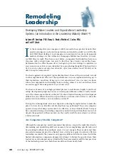 Remodeling Leadership