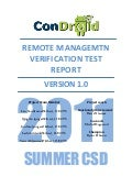 Condroid Remote management Verification Test Report