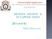 Remote sensing and application by N...