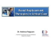 Renal replacement therapy in intens...
