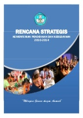 Rencana strategis mendikbud 2014