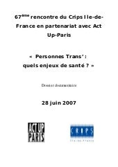 "Rencontre du CRIPS / Act Up-Paris ""..."