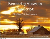 "Rendering Views in JavaScript - ""Th..."