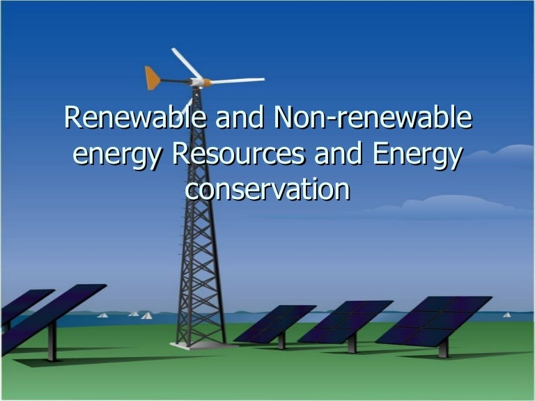 renewable non