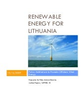 Renewable Energy for Lithuania: Off...