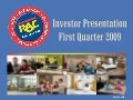 Q1 2009 Earning Report of Rent-A-Center, Inc.
