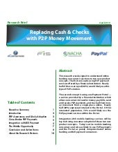 Replacing Cash & Checks with P2P Mo...