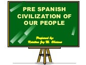 Report pre spanish civilization