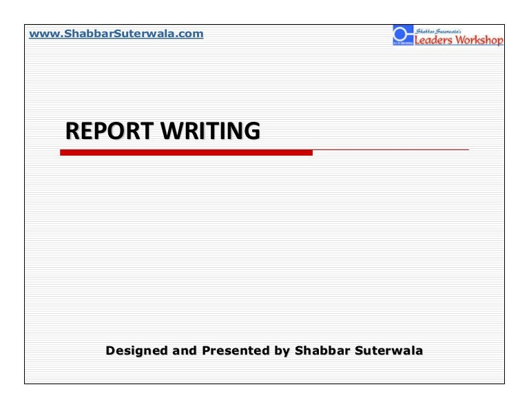 What is the format for report writing?