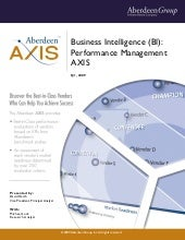 Business Intelligence: Performance ...