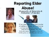 Reporting Elder Abuse; Mandatory Re...