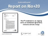 Report on Rio+20 UNCSD 2012