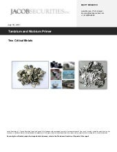 Rare Metals Report on Tantalum & Ni...