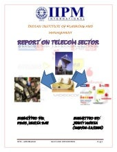Report on telecom sector