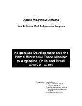 Report on Indigenous Development an...