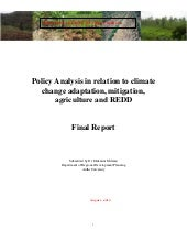 Policy Analysis in relation to clim...