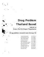 Drug Problem Thailand based