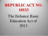 Republic act 10533 presentation