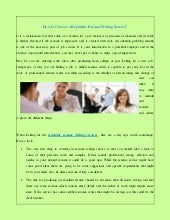 Reputable resume writing services