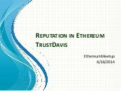 TrustDavis on ethereum