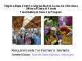 Requirements for farmers markets