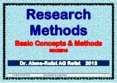 Research Methods: Basic Concepts and Methods