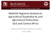 ReSAKSS Regional Analysis on Agricu...
