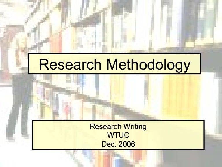 Write methodology