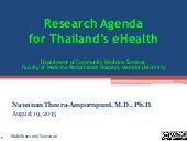 Research Agenda for Thailand's eHealth