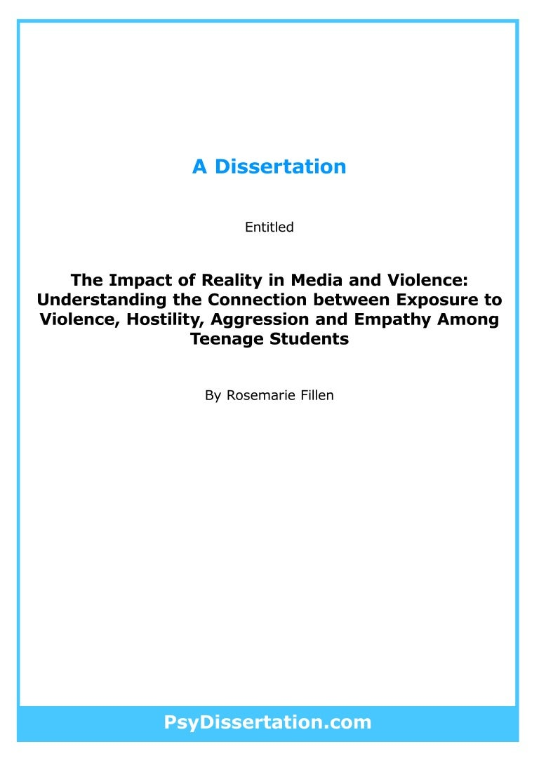 Clinical psychology dissertation ideas