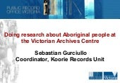 Researching aboriginal records v1.0...