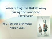 Researching the British Army during the American Revolution