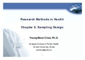Research method ch06 sampling