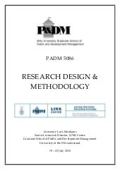 Research methodology cours