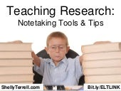 Teaching Research: Note-taking Apps...