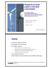 Research on Wind Power in the Built...